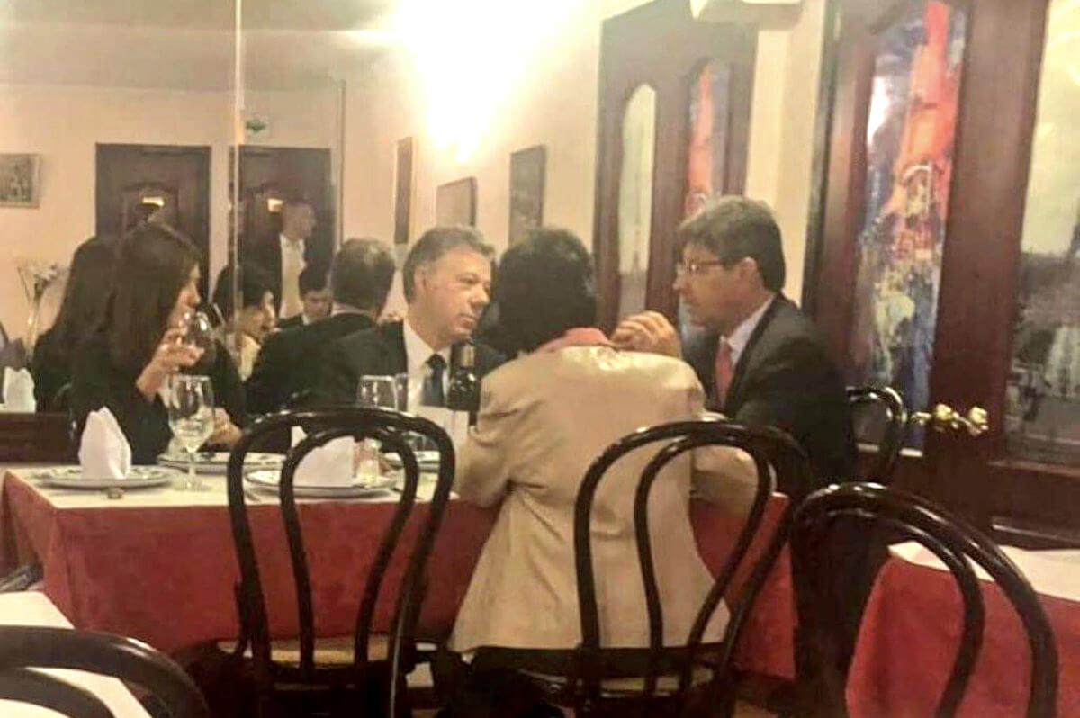 Diana Fajardo, Juan Manuel Santos y Alejandro Linares
