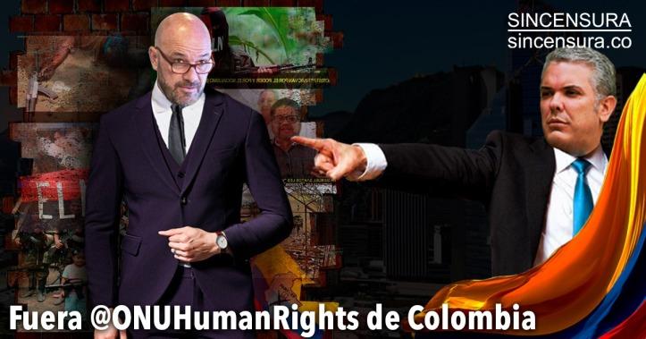 Resultado de imagen de Fuera @ONUHumanRights de Colombia
